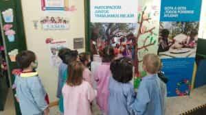 Día del niño y carrera del agua con UNICEF, en el colegio Cervantes de Santa cruz de Mudela