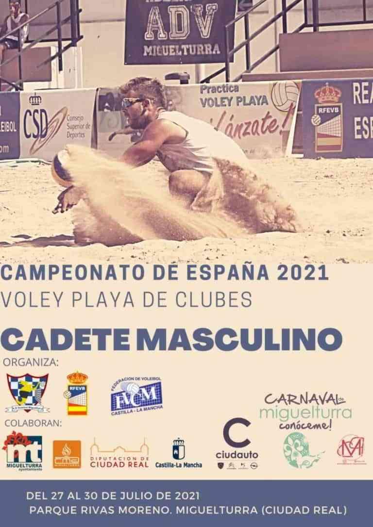 Campeonato de España de Vóley Playa cadete masculino 2021 en la modalidad de clubes del 27 al 30 de julio