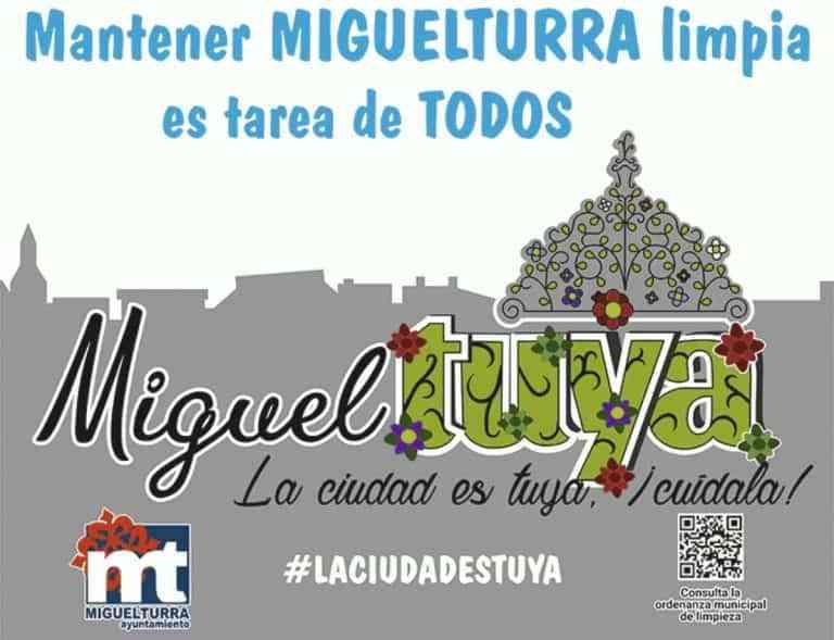 Nueva campaña municipal de limpieza y concienciación «MiguelTuya, la ciudad es tuya, ¡ cuídala!