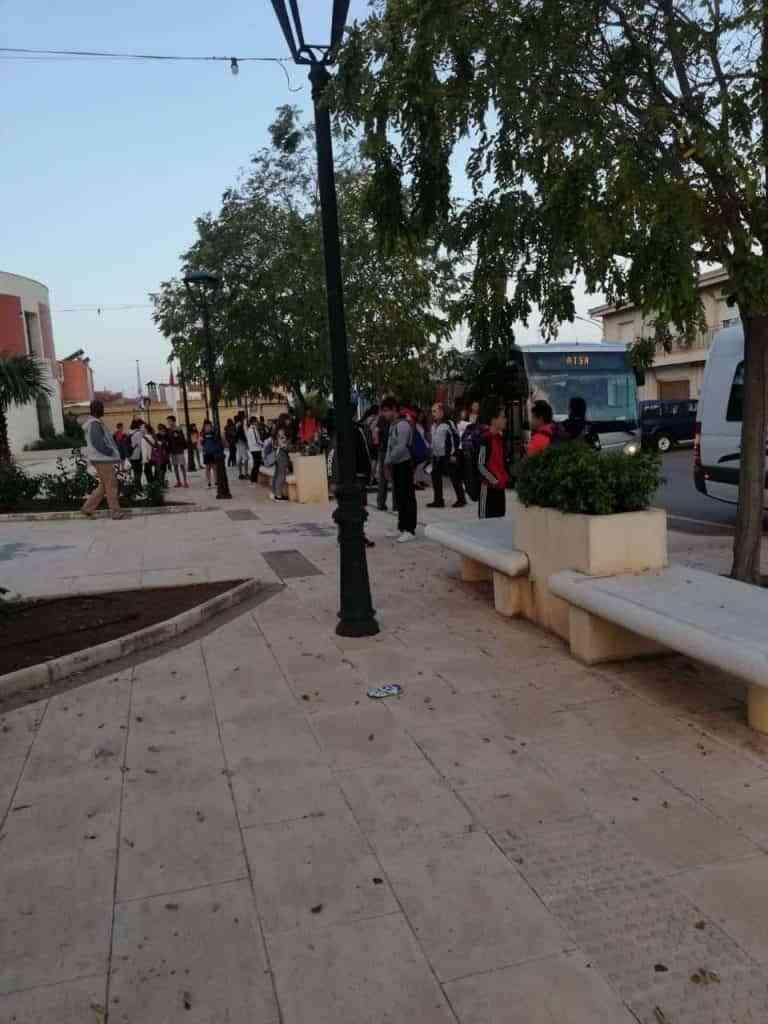 El Ayuntamiento de Poblete es pionero provincial en control de la seguridad de la ruta de transporte para los 154 estudiantes de la ESO